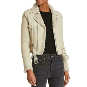 IRO Womens Synal Shearling Jacket.Real Fur.36